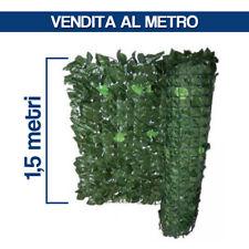 SIEPE SINTETICA ARTIFICIALE ARELLA EDERA SUPPORTO RETE H 1,5 MT AL METRO 29194/1