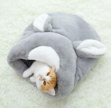 Pet Dog Cat House Sleeping Bag Bed Sofa Tent Cushion Rabbit Shape Kitty Grey S