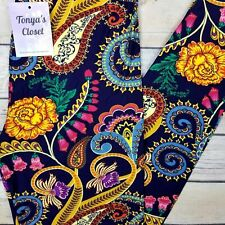 Bright Floral Paisley Leggings Buttery Soft ONE SIZE OS 2-10