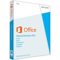 Microsoft Office 2013 Home and Business; Lifetime; 32&64 Bit; Produkt Key E-Mail