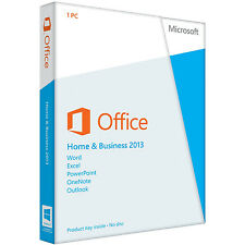 Microsoft Office Home & Business 2013 (Nur Lizenz) (1) - Vollversion für Windows AAA-02652