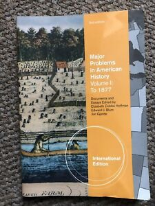 Major Problems in American History, Volume I, International Edition by Jon...
