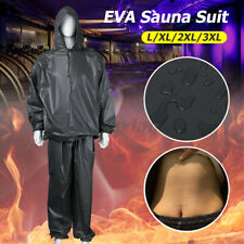Heavy Duty Sweat Hooded Sauna Suit Gym Fitness Exercise Fat Burn Weight Loss New