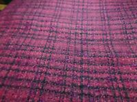 2 7/8 Yrd 60 Wide Wool Red Plaid Material/Fabric #4669