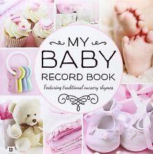 My Baby Record Book Hardcover Nursery Rhymes Keepsake Shower Hinkler PINK GIRLS