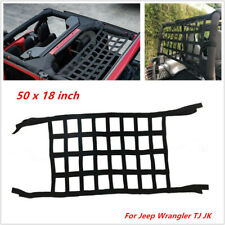 1PC Roof Back Cargo Net Window Extra Storage Restraint Webbing For Jeep Wrangler
