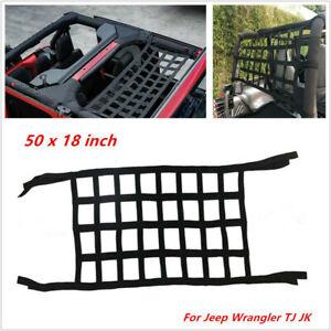 1PC Roof Back Cargo Net Window Extra Storage Restraint Webbing For Jeep Wrangler