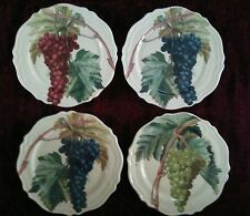 Certified International VINTAGE GRAPES Salad Plates - Set of 4 - FREE SHIPPING