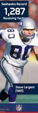 STEVE LARGENT SEAHAWKS Super Bowl NFL Action POSTER Banner 2 feet x 6 feet