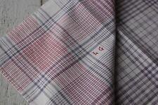 Antique French plaid check napkin bandana neckerchief towel textile19th century