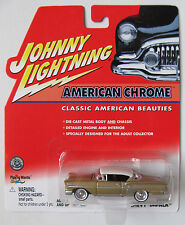 JOHNNY LIGHTNING R3 AMERICAN CHROME 1958 CHEVY IMPALA Gold rubber tires