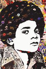 Mr Brainwash Michael Jackson Records postcard print popart banksy kaws art