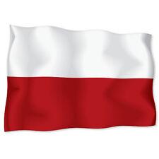 "POLAND Polish Flag car bumper sticker decal 6"" x 4"""
