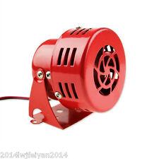 "12V 3 "" Electric Red Motor Driven Air Raid Siren Horn Alarm Loud Car Truck 1950s"