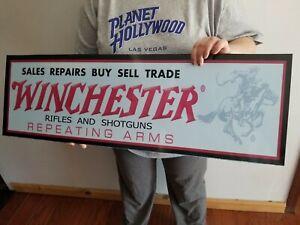 Winchester sign DEALER STORE DISPLAY GUNS CARTRIDGES AMMO