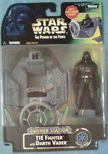 Star Wars POTF Darth Vader w/ TIE Fighter Gunner Station new sealed by Hasbro