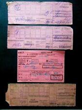 4 BILLETS tickets de train - S.N.C.F. - France - dans les années 1945/années 60