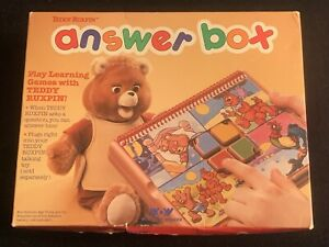 Teddy Ruxpin Bear ANSWER BOX Vintage 1988 NEW