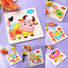 Wooden Animal Puzzle Jigsaw Blocks Children Kids Baby Learing Educational Toy