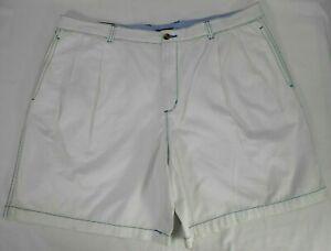 CLUB ROOM big mens off-white pleat front khaki shorts size 44 NWOT