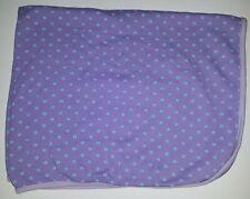 Rene Rofe Purple Blue Flowers Lovey Security Receiving Baby Blanket 100% Cotton
