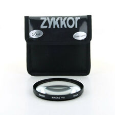 Zykkor Macro +10 Close Up Glass Filter Lens For 58mm camcorder,Camera,US seller!