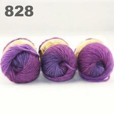 Sale New 3 Skeinsx50g Rainbows Coarse Hand Knit Quick Wool Yarn Shawl Scarves 28