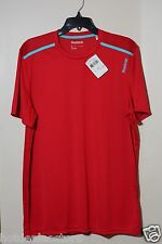New - Reebok Workout Ready Poly Tech Top Shirt Size Large - Red - B86559