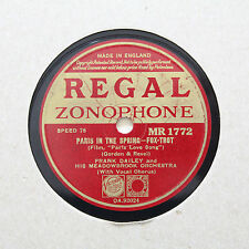 """FRANK DAILEY & HIS MEADOWBROOK ORCHESTRA """"Paris In The Spring"""" REGAL [78 RPM]"""
