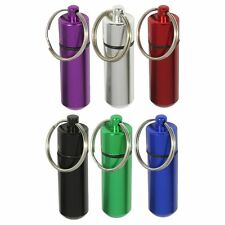 Gift Idea 6pc Water Resistant Small Pill Containers w/ Keychain Geocaching Tool