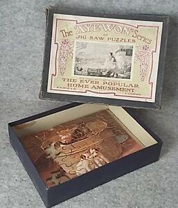 AYE WON series S.M.Mc.Ewan & Son Wooden Jigsaw Picture Puzzle Antique