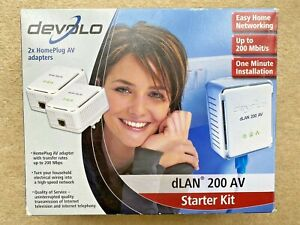 Devolo dLAN 200 AVeasy 200 Mbps Ethernet Powerline Adapter Starter Kit no 1530