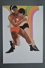 R&L Postcard: 1984 Los Angeles Olympics, Robert Peak, Wrestling