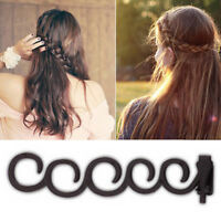 2Pcs French Hair Braider Tool with Ponytail Twist Styling Bun Maker Roller