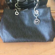 Michael Kors MK Logo Jet Set Signature Black/ Chain Purse Handbag