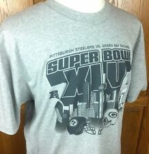 Mens REEBOK NFL Super Bowl XLV T Shirt Packers vs Steelers Sz XL VERY GOOD