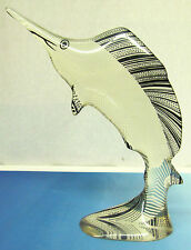 "Abraham Palatnik Marlin Swordfish Sailfish Sculpture 10.5"" Tall Signed Acrylic"