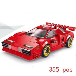 Luxury Race Car Building Block Red Racing Countach Sports Car Toy BIRTHDAY GIFT