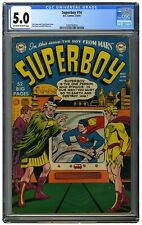 Superboy 14 CGC 5.0 OW/W Rare presents much better than grade!