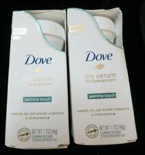 2 DOVE WOMENS DEO Dry Serum Antiperspirant Deodorant Jasmine Touch 1.7 Ounce