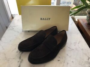 New Bally Brown Suede Italian Leather Loafers 6.5 US