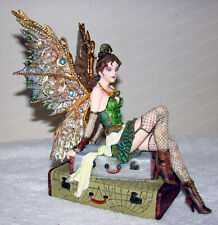 Steampunk Fairy (8675) Fishnet Stockings, Vintage Luggage, Goggles