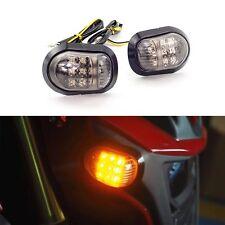 2pcs Motorcycle Bike LED Turn Signal Blinker light Indicators Amber 12V Motor