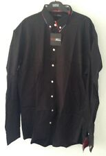 New Mens Black Shirt With Colourful Check Highlights 4XL - Van Hill