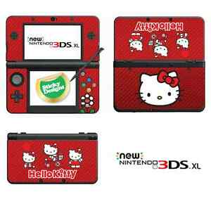 Hello Kitty Vinyl Skin Sticker for NEW Nintendo 3DS XL (with C Stick) - Red