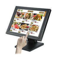 "15"" Touch Screen USB LCD TouchScreen Monitor VGA LED Retail Kiosk Restaurant Bar"