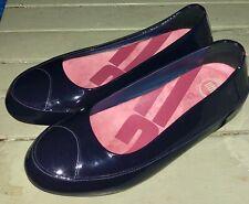 FItFlop Due shoes black patent leather platform ballerina pumps shoes UK 7 40