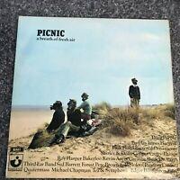 RARE LP DOUBLE ALBUM PICNIC BREATH OF FRESH AIR 1969/70 HARVEST SAMPLER EX/EX