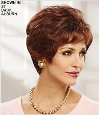Paula Young Wig #A5016 Dark Auburn Color 33A Style Sensational - A