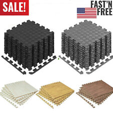24-480Sq Ft Puzzle EVA Foam Floor Mat Interlocking Exercise Gym Flooring Mat LOT